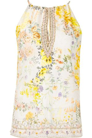 Camilla Sleeveless floral blouse