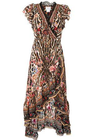 Camilla Ruffled wrap dress - Multicolour