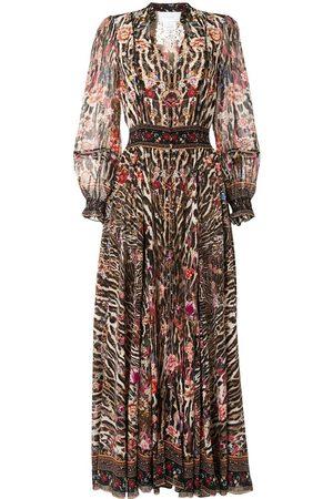 Camilla Shirred-waist dress