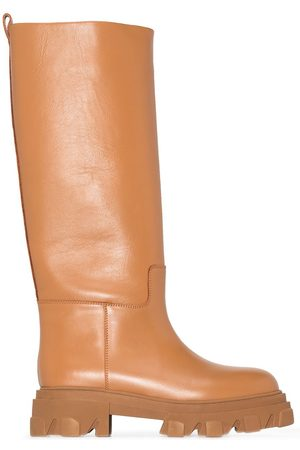 GIA X Pernille Teisbaek 07 leather knee-high boots