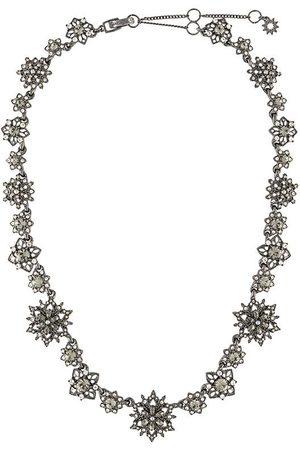 Marchesa Notte Crystal-flower necklace