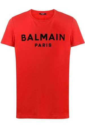 Balmain Logo flocked T-shirt