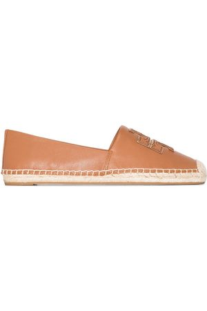 Tory Burch Women Espadrilles - Logo appliqué leather espadrilles