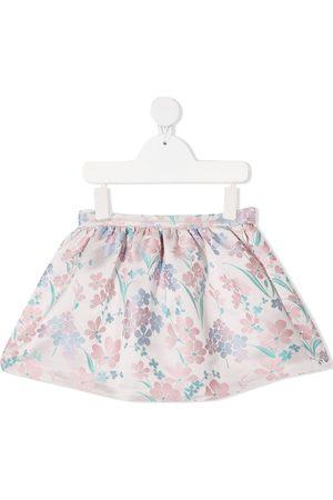 HUCKLEBONES LONDON Girls Mini Skirts - Floral-jacquard mini skirt