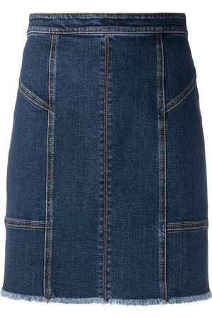 Alexander McQueen Women Mini Skirts - Panelled denim mini skirt