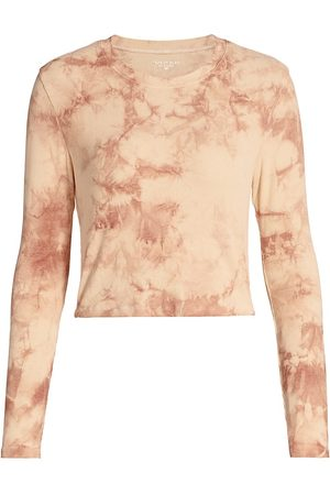 Years Of Ours Women's Tie-Dye Rib-Knit Long-Sleeve Sleep Shirt - - Size Small