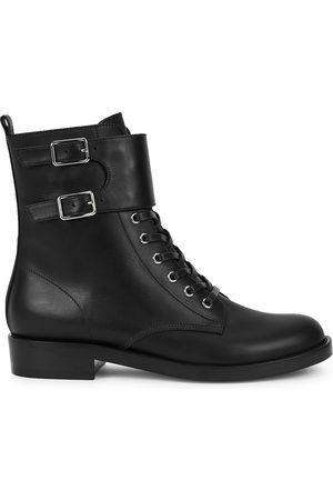 Gianvito Rossi Lagarde leather biker boots