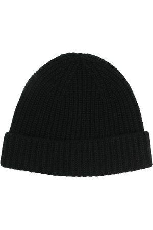 Cruciani Men Beanies - Ribbed-knit cashmere beanie