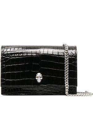 Alexander McQueen Women Clutches - Skull-embellished clutch bag
