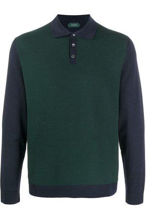 ZANONE Colour-block polo shirt