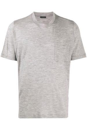 ZANONE Short-sleeved wool T-shirt - Grey