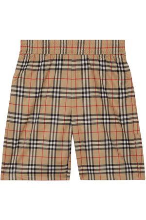 Burberry Men Sports Shorts - Check-print shorts - Neutrals