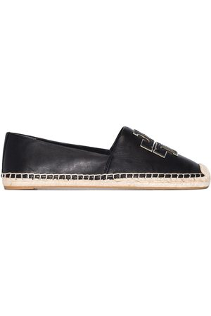 Tory Burch Ines flat leather espadrilles
