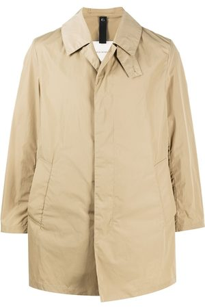 MACKINTOSH Men Coats - LONDON single-breasted car coat - Neutrals