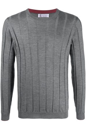 Brunello Cucinelli Thick-rib crew-neck jumper - Grey