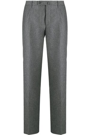 Incotex Flannel tapered-leg trousers - Grey