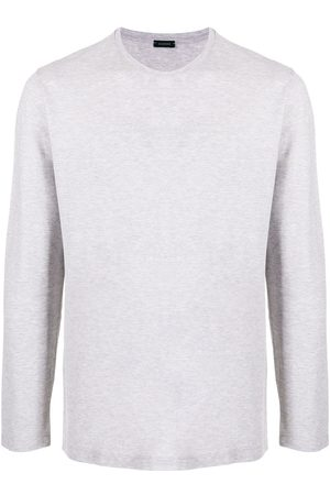 ZANONE Long-sleeved cotton T-shirt - Grey