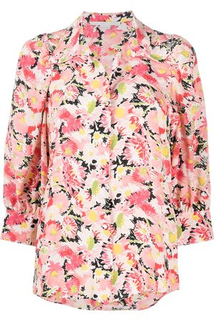 Stella McCartney Floral-print crop-sleeve blouse