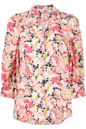 Stella McCartney Women Crop Tops - Floral-print crop-sleeve blouse