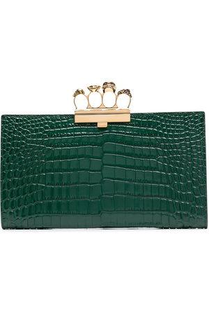 Alexander McQueen Embossed knuckleduster clutch bag