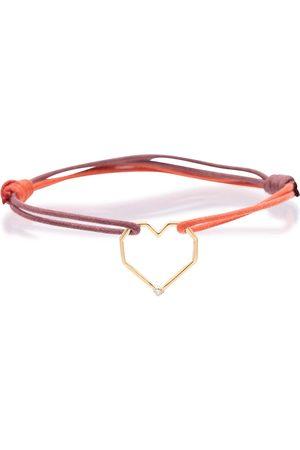 Aliita Women Bracelets - Corazón Brillante 9kt gold-trimmed bracelet with diamond