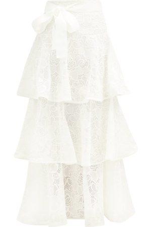 ZIMMERMANN Lovestruck Ruffled Cotton Floral-lace Skirt - Womens