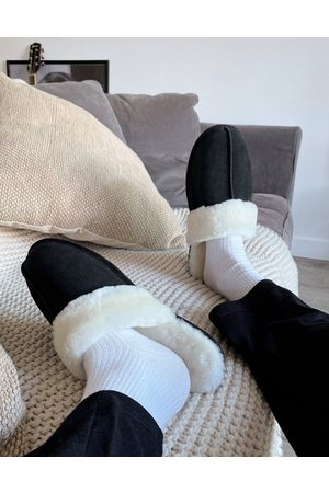 ASOS Premium sheepskin slipper in
