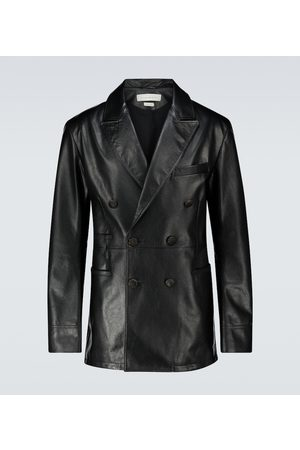 Alexander McQueen Double-breasted leather jacket