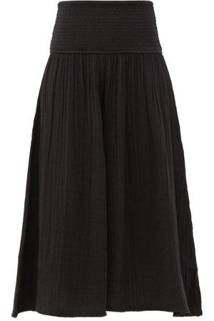 Anaak Women Culottes - Anneka Shirred-waist Cotton-gauze Culottes - Womens