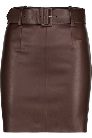 Stouls Megan belted leather miniskirt