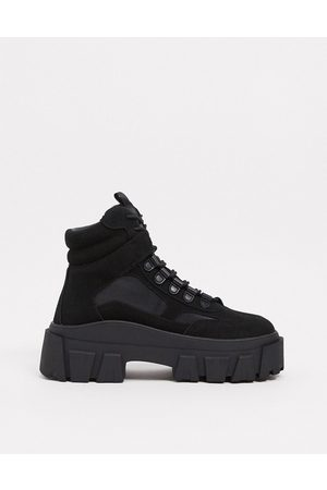 ASOS Lace up boot in faux nubuck with chunky sole
