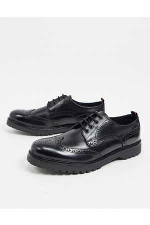 Base London Riddle brogues in leather