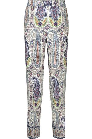 Etro Paisley wool and silk straight pants