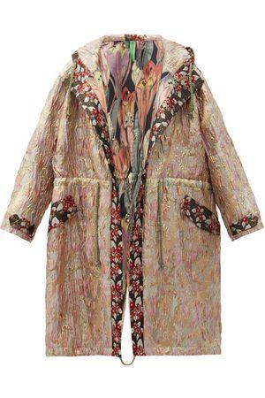 Rianna + Nina Vintage Hooded Drawstring Floral-brocade Parka - Womens - Multi