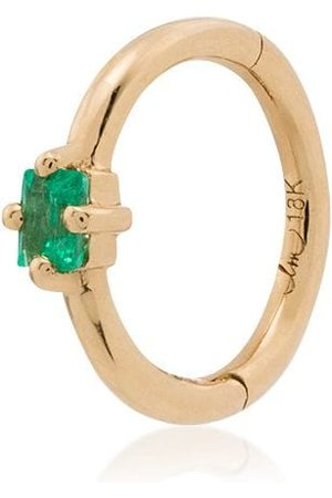 Lizzie Mandler Women Hoop - 18kt yellow emerald single hoop earring