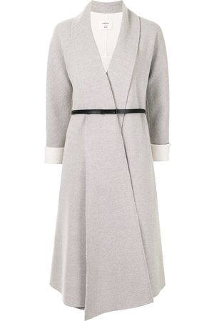 Onefifteen Belted wool-blend coat - Grey