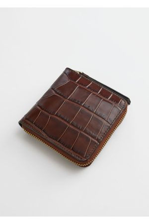 & OTHER STORIES Embossed Leather Zip Wallet