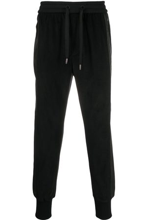 Dolce & Gabbana Cropped panelled corduroy track pants