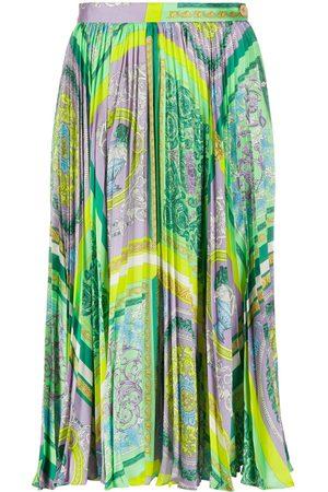 VERSACE Barocco Mosaic print midi skirt