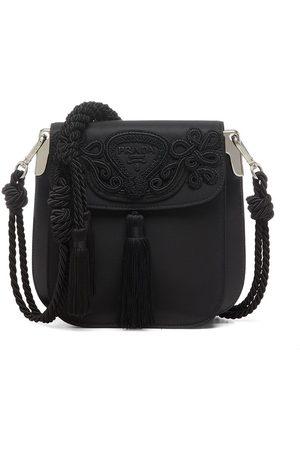 Prada Women Shoulder Bags - Embroidered logo shoulder bag