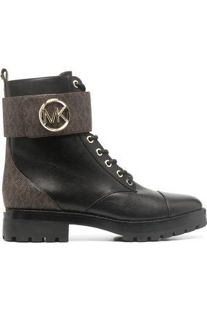 Michael Kors Women Boots - Logo-print combat boots