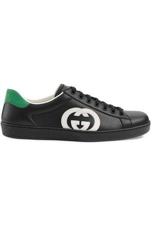 Gucci Men Sneakers - Interlocking-G Ace low-top sneakers
