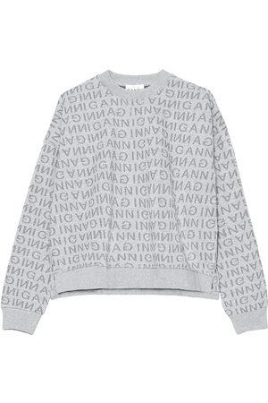 Ganni Women's Logo Crewneck Pullover - - Size XXS/XS