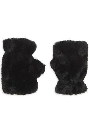 Apparis Women's Ariel Faux Fur Fingerless Gloves - Noir