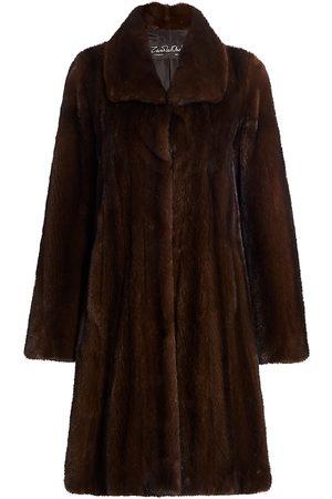 The Fur Salon Women's Zandra Rhodes For Mink Fur A-Line Coat - - Size Small