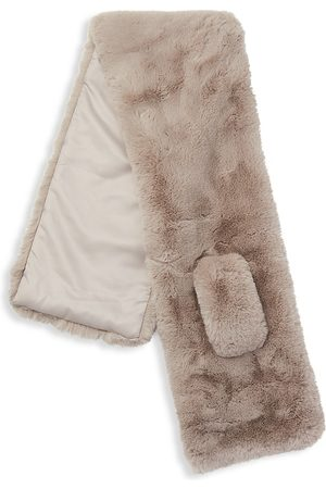 Apparis Women Scarves - Women's Luna Faux Fur Scarf - Taupe