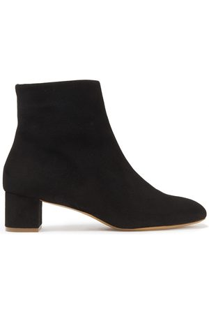 Mansur Gavriel Women Ankle Boots - Woman Shearling-lined Suede Ankle Boots Size 35
