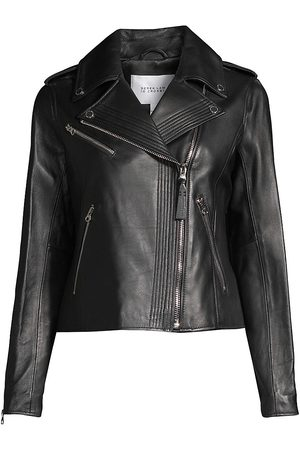 Derek Lam Women's Asymmetrical Leather Moto Jacket - - Size XS