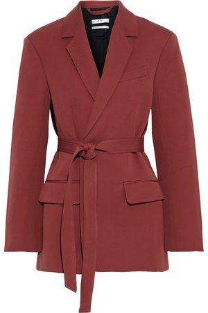CO Woman Belted tton And Wool-blend Twill Blazer Brick Size XS