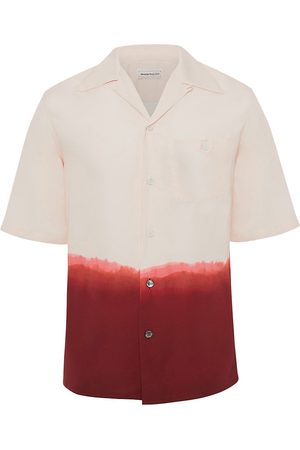 Alexander McQueen Men Short sleeves - Men's Short-Sleeve Dip Dye Print Shirt - Pale - Size 15